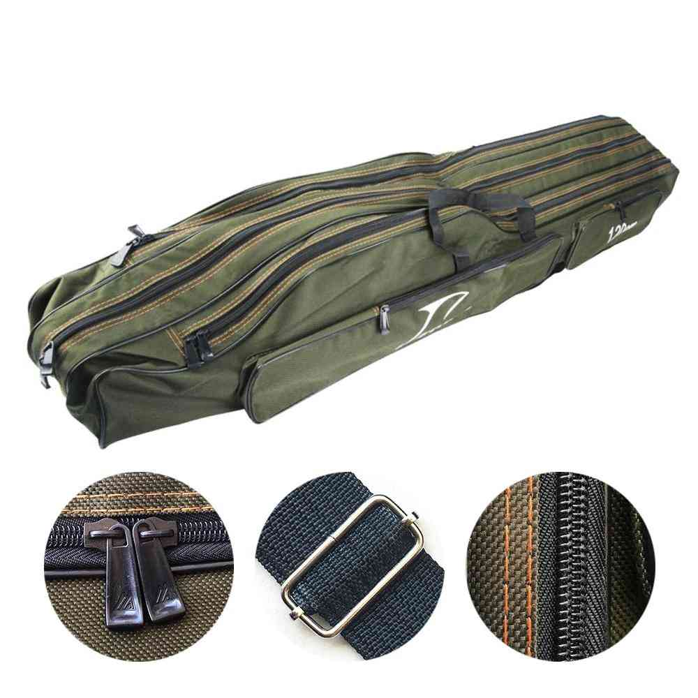 Fishing Bags Pouch Canvas Sea Carrier, Rod Pole Tackle