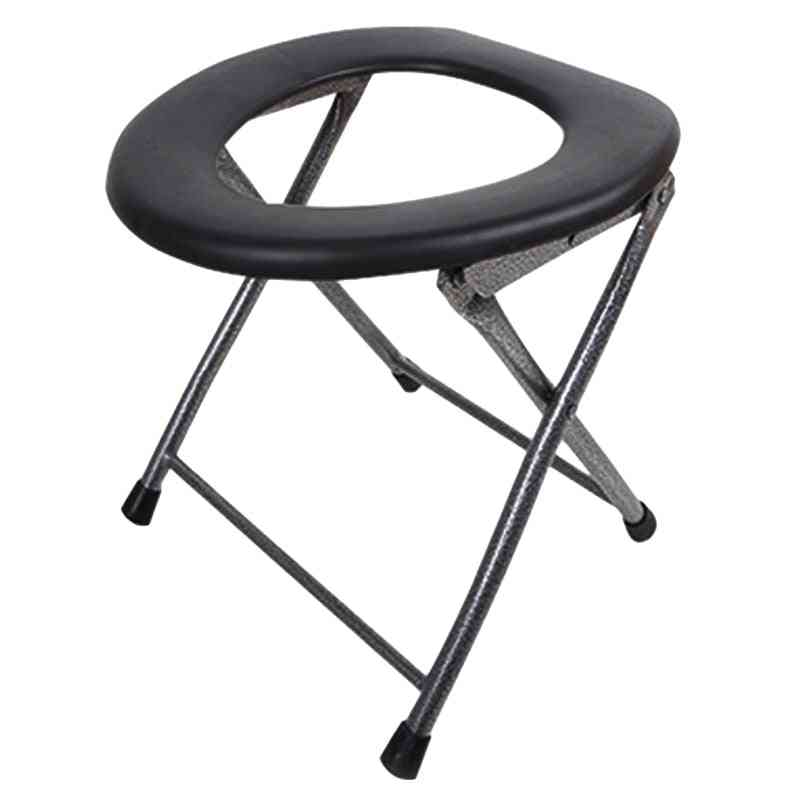 Portable Folding Toilet, Outdoor Camping Travel Chair