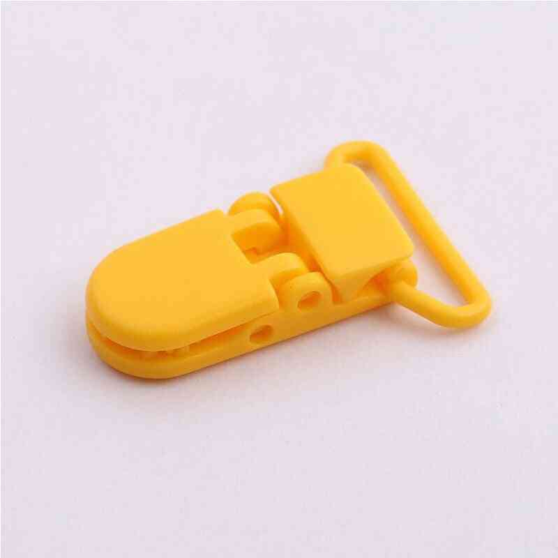 Plastic Transparent Pacifier Clips Soother Holder For Baby Nipples Round Clamp