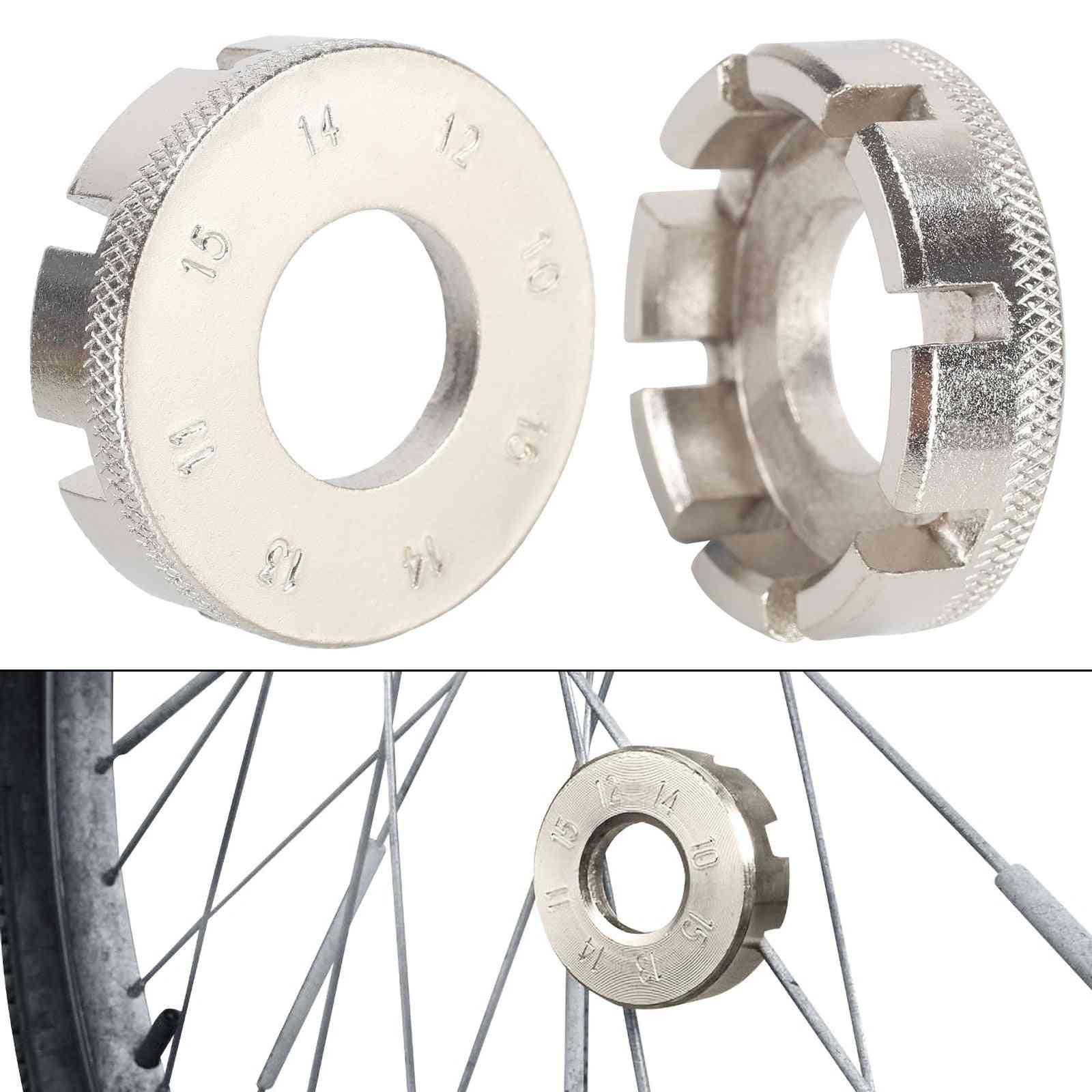 Multi-function 8-way Spoke Wrench- Repair Tool For Bicycle/bike