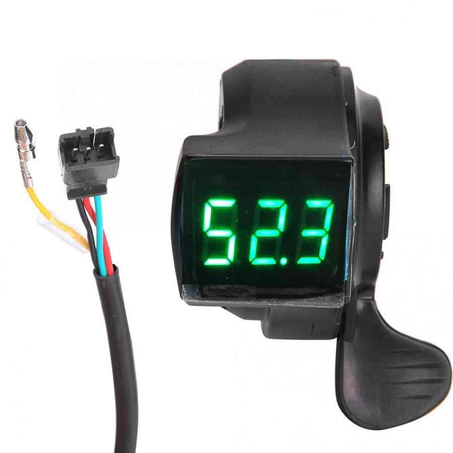 Lcd Digital E-bike Thumb Throttle, Voltage Display