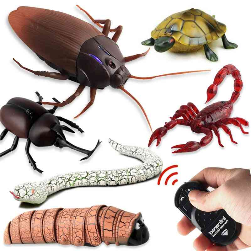 Rc Remote Control Animal Toy Kit, Smart Cockroach, Spider, Snake, Ant & Insect