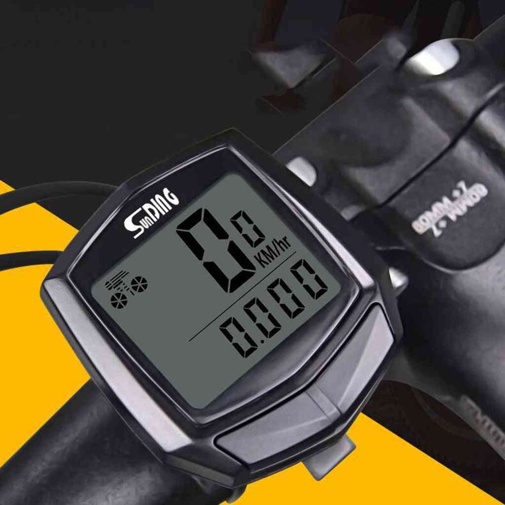 Bike, Bicycle Computer With Lcd Digital Display Odometer