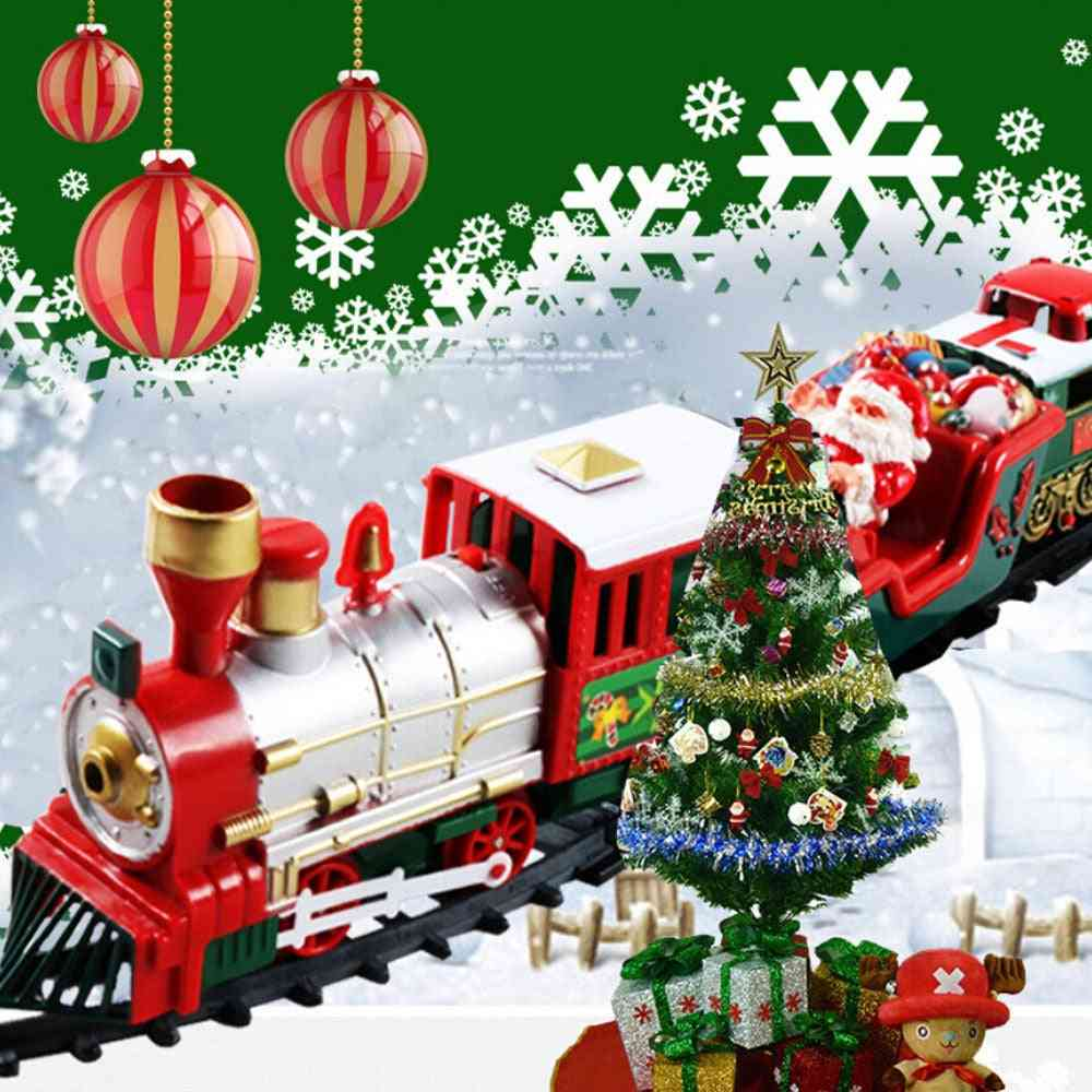 Lights And Sounds Train Set, Railway Tracks Battery Operated Toy