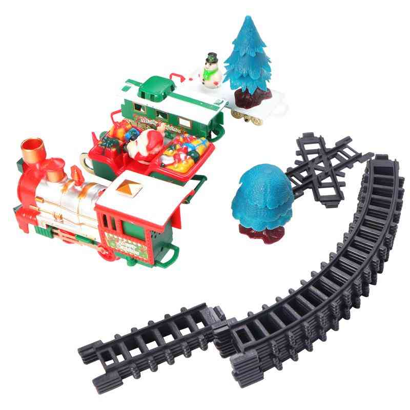 Rc Gameplay Train With Head Light Long Track Whistle Music Toy
