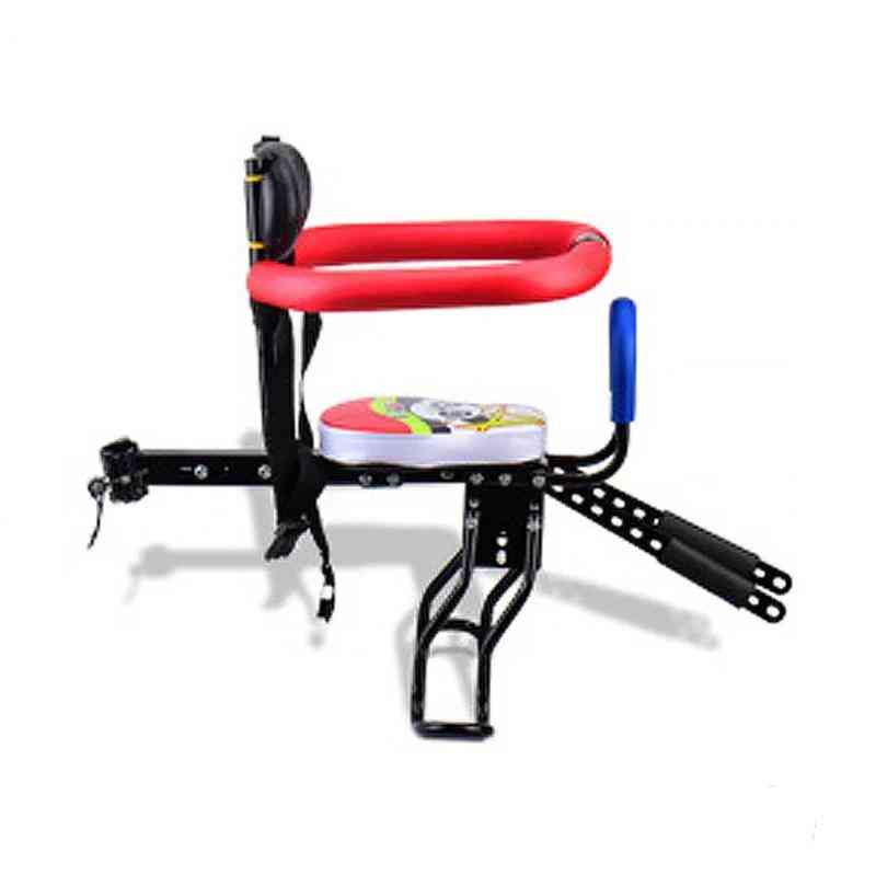 Electric Bicycle Trailer Chair Baby Safety Release Saddle Seat With Armrest Guard Bar