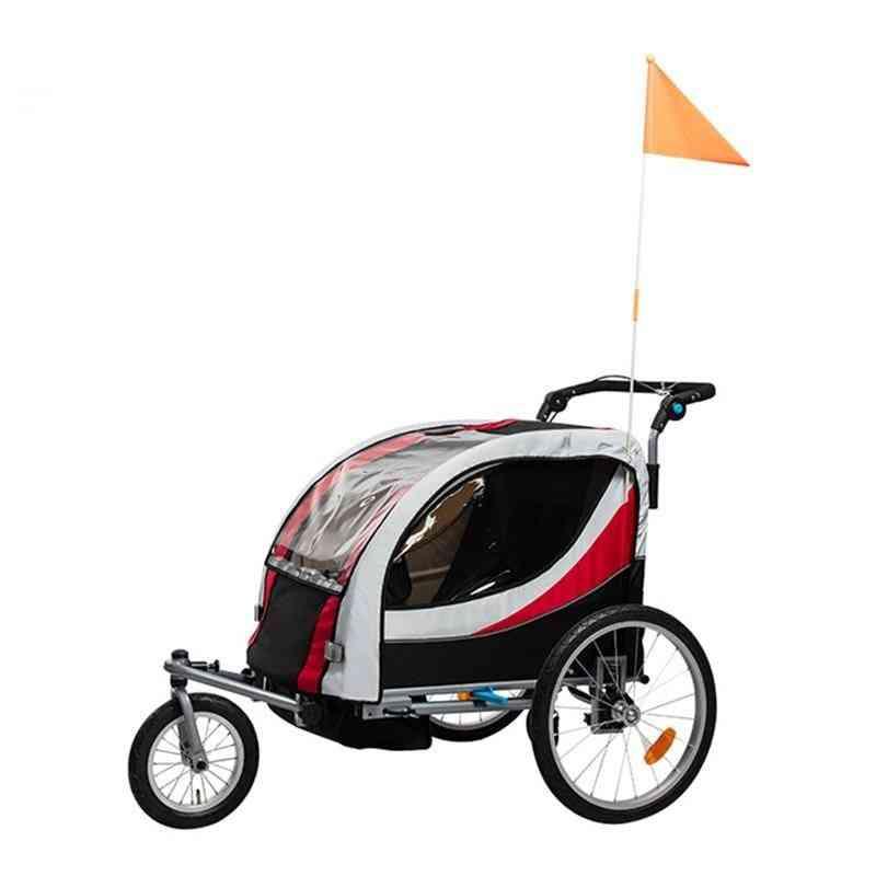 3 Wheels Baby Bike Trailer Stroller With Brake