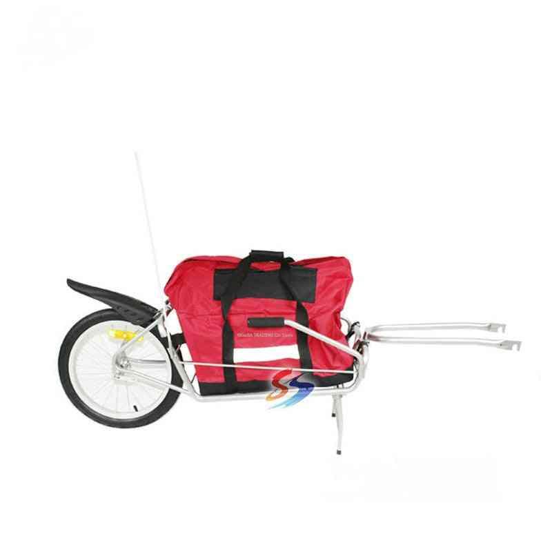 Single Wheel Bicycle / Luggage Trailer Without Bag
