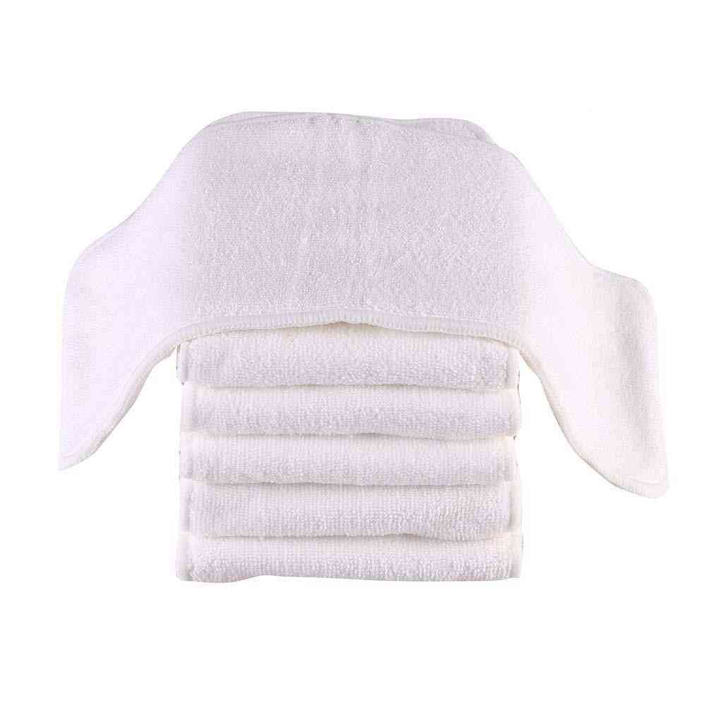 Washable Reusable Baby Cloth Diapers, Nappy Inserts Microfiber 3 Layers