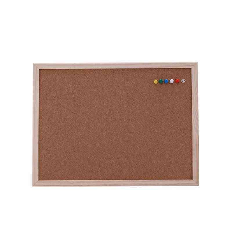 Cork Board, Drawing Pine Wood Frame