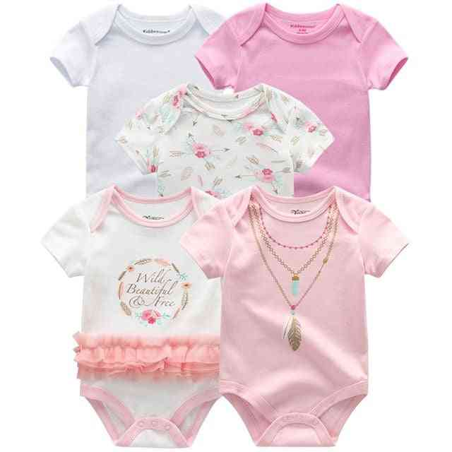 Short Sleeves, Cotton Rompers For Newborn Baby (set-2)