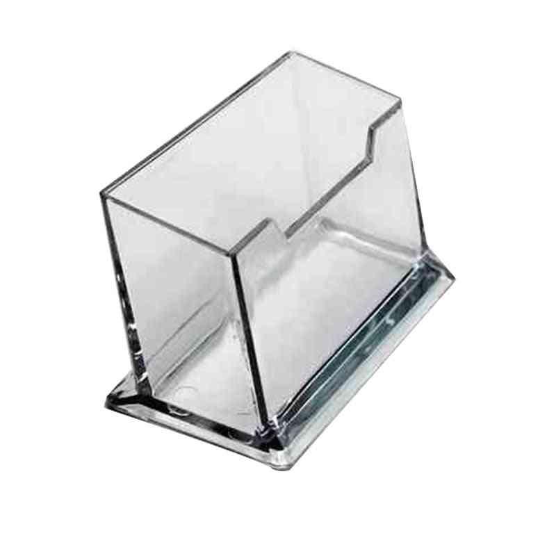 Desk Shelf Box Storage, Display Stand Acrylic Plastic Desktop Business Card Holder