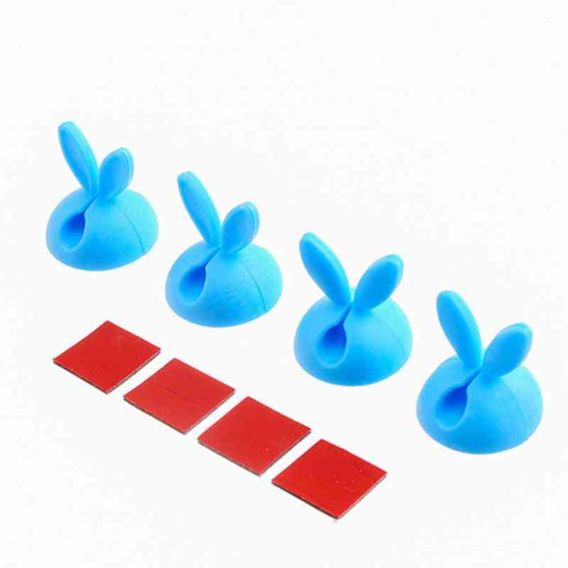 Rabbit Ear Shaped, Space Saving Cable Organizer Desk Clips