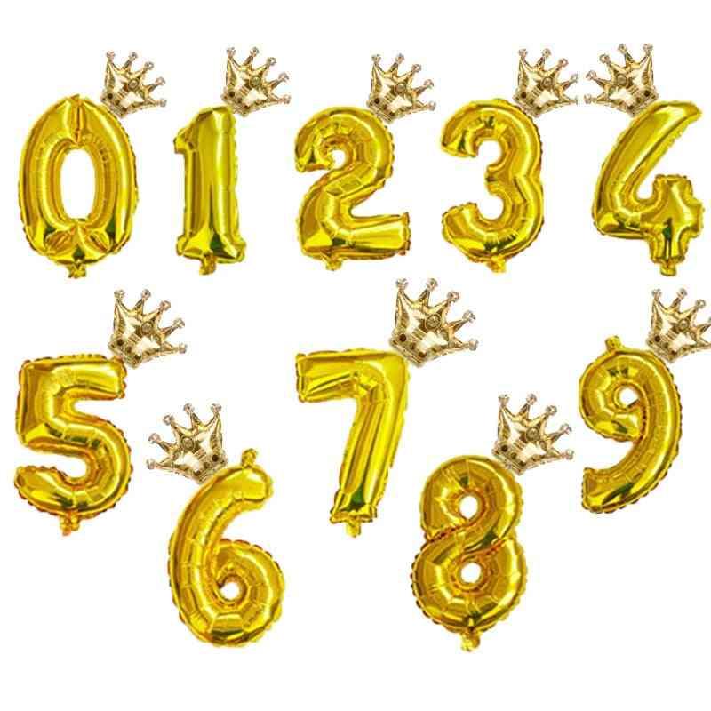 Rainbow Number Foil / Air Balloons