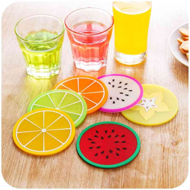 Fresh Fruit Coaster Novelty Placement For Mugs Cup Table Decoration
