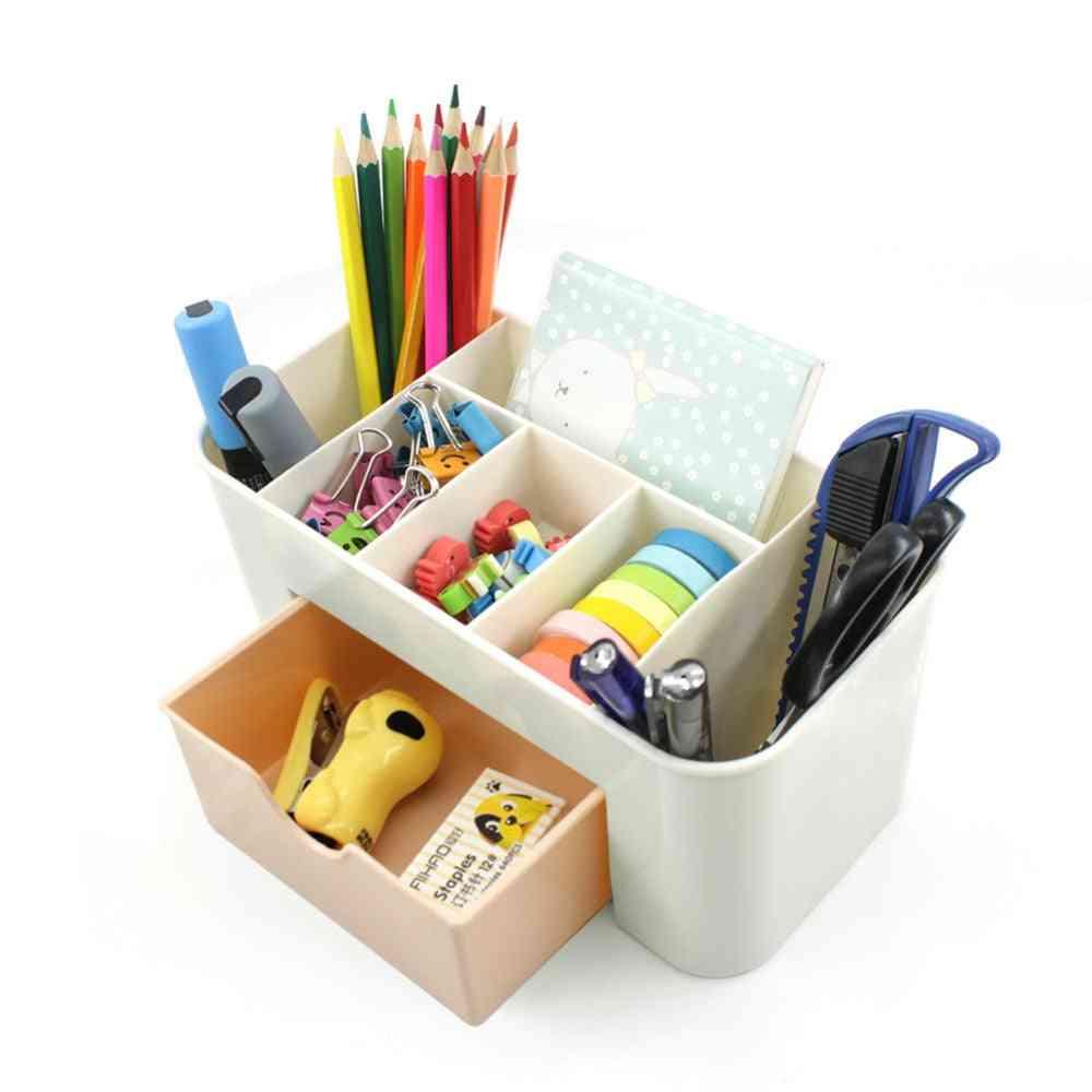 Multilayer Storage Box, Plastic Shelf Desk