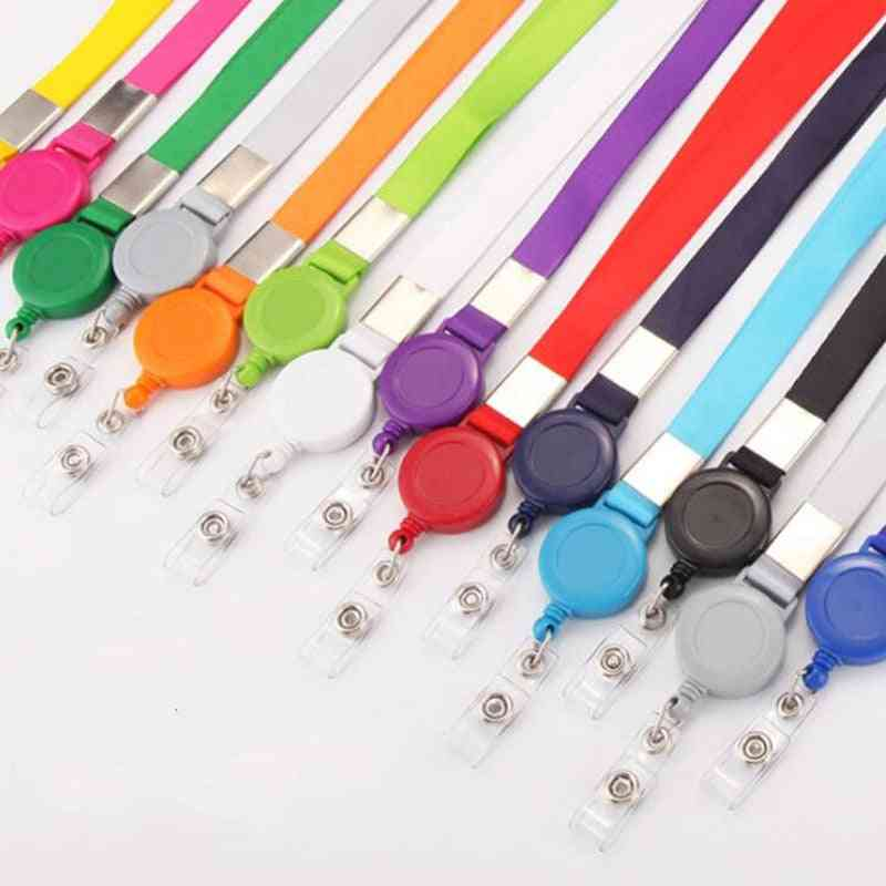 Retractable Lanyard Neck Strap For Badge Holder-office Supplies