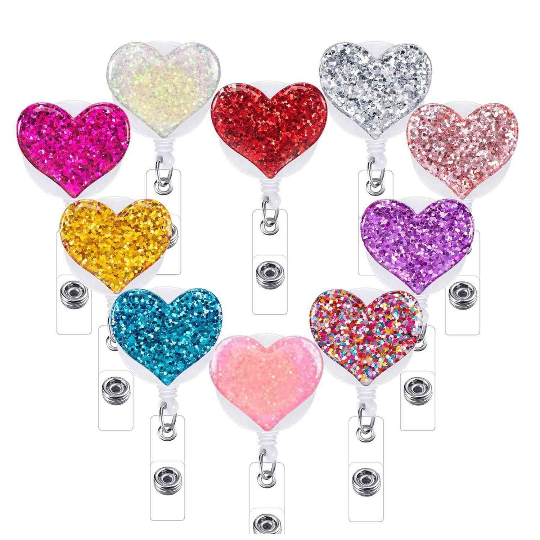 Love Heart Design, Retractable Badge Holder Reels
