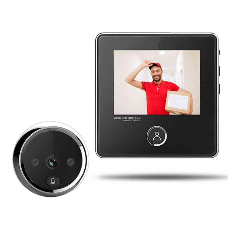 Digital Door Viewer With Lcd Screen/bell/ir Night Camera/photo Recording