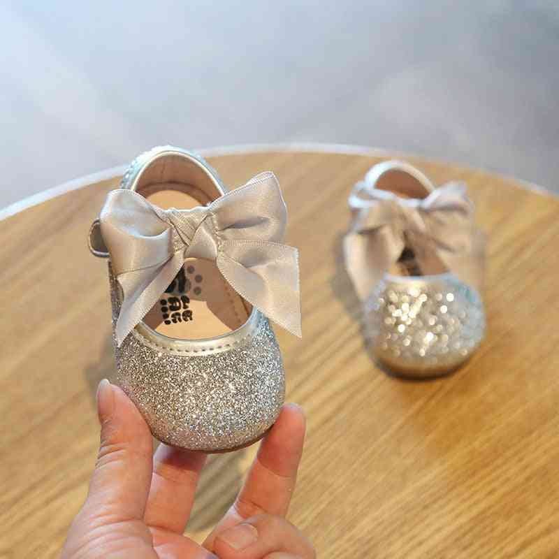 Sequins, Non-slip Princess Leather Shoes For Baby