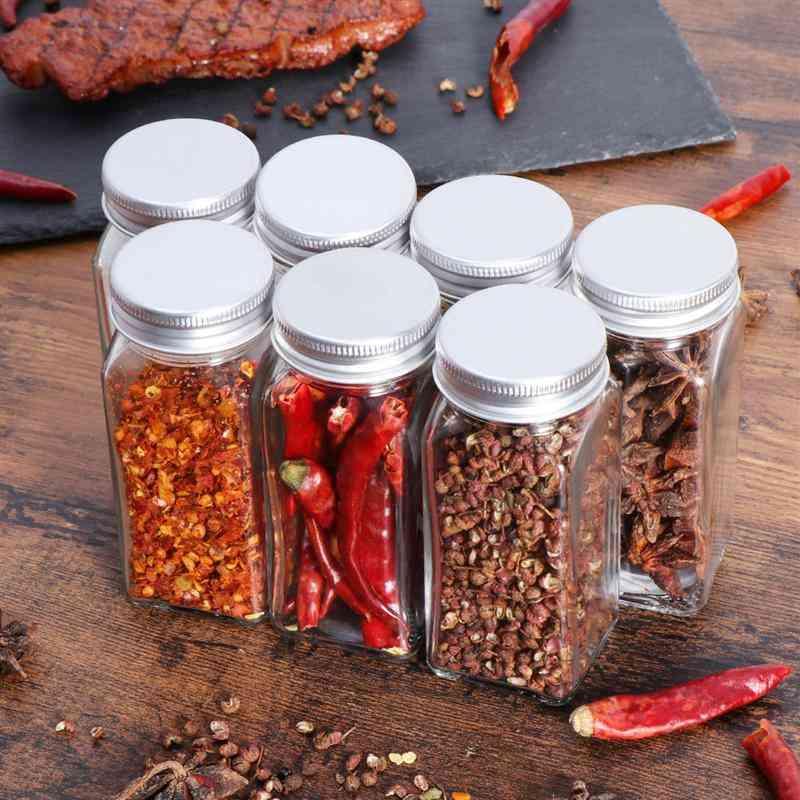Kitchen Organizer-spice/seasoning Glass Jars With Lids