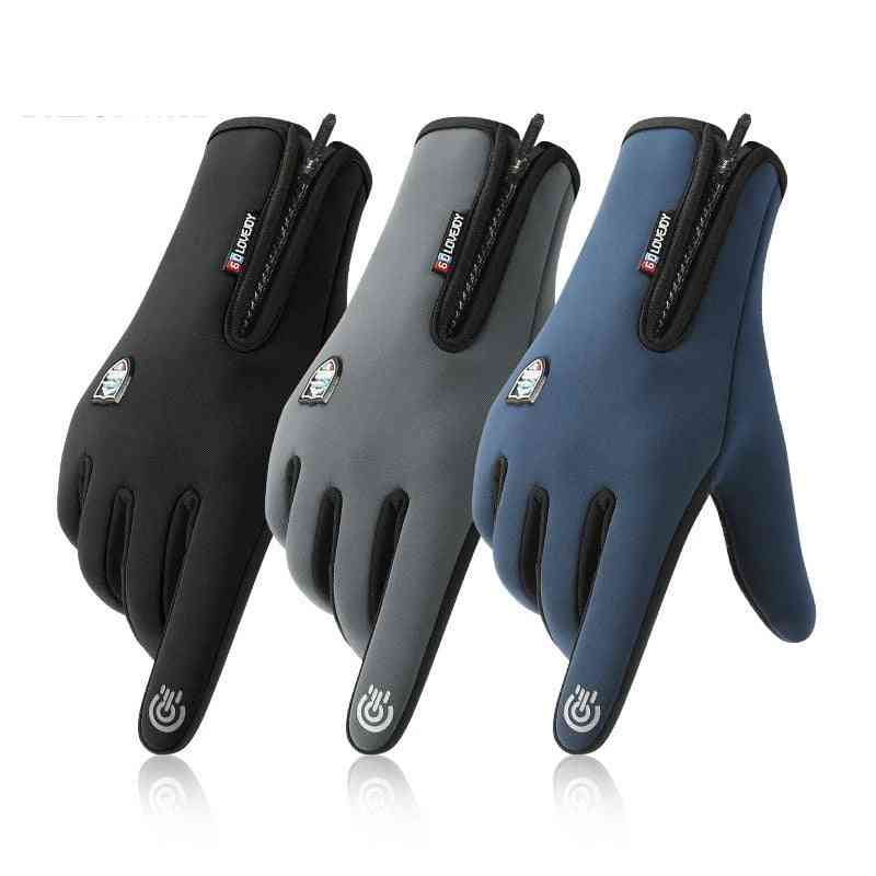 Unisex Windproof, Splash-proof, Touch Screen Fabric Sports Gloves