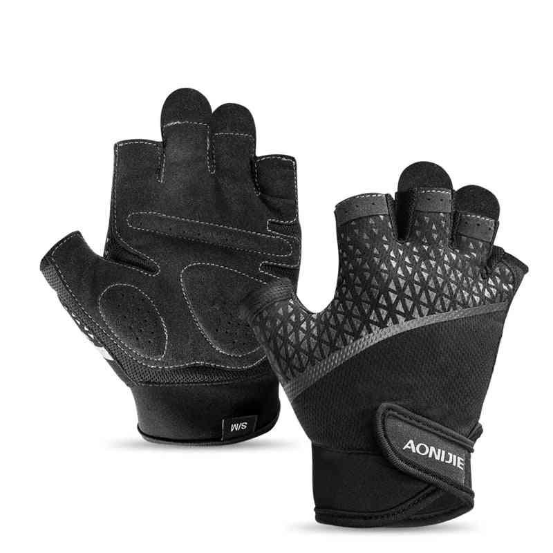 Running, Jogging, Hiking, Anti-slip Half Finger Sports Gloves