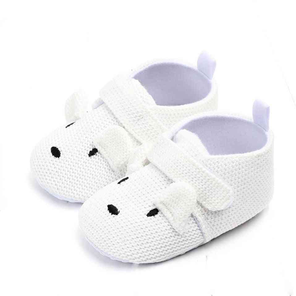 Adorable Infant Slippers Baby Boy & Girl Knit Crib Shoes