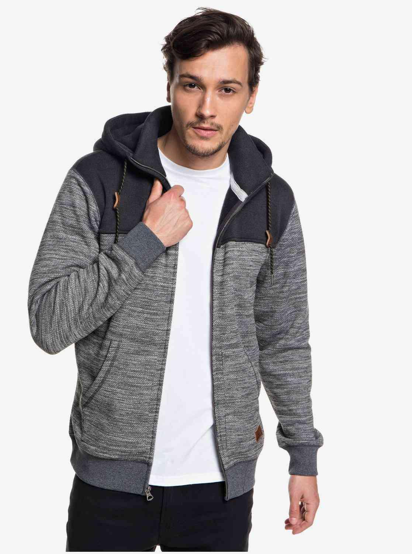 Double High Collar Zip-up Polar Fleece Hoodie