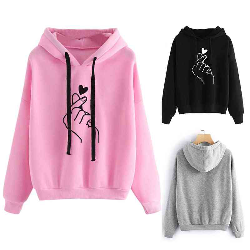 Women's Long-sleeved Hooded Sweatshirt
