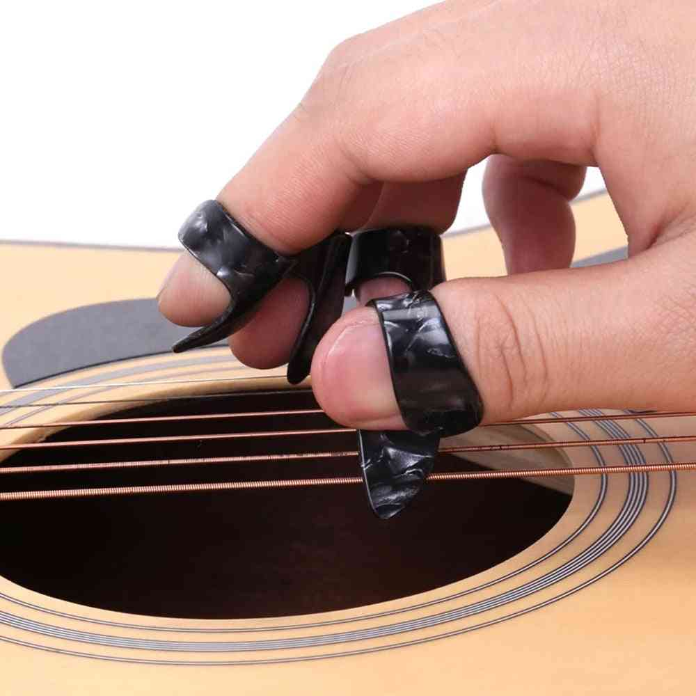 Celluloid Finger-thumb Picks For Acoustic Electric Guitar
