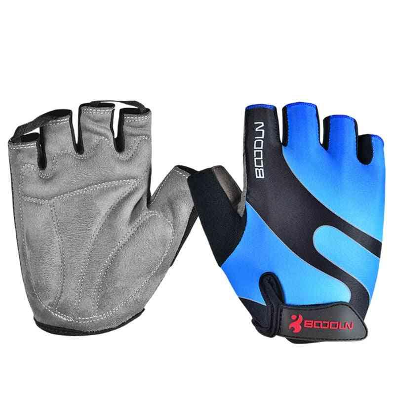 Men Bicycle Glove, Cycling Sports Breathable Women Mtb Bike Half Finger Sponge Pad Mittens