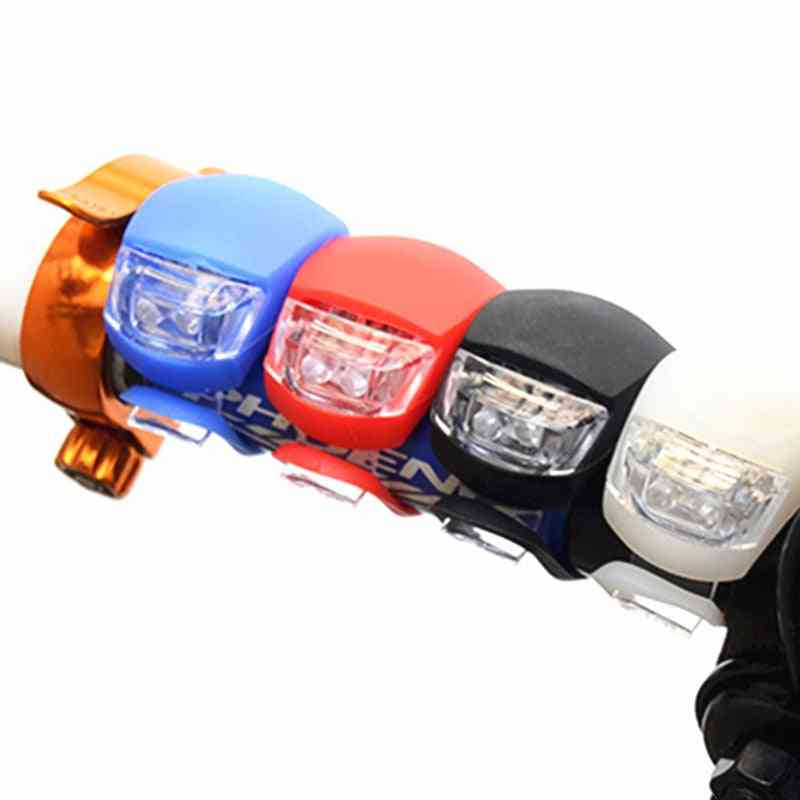 Bicycle Front Lights, Silicone Led Head Rear Wheel Bike Light