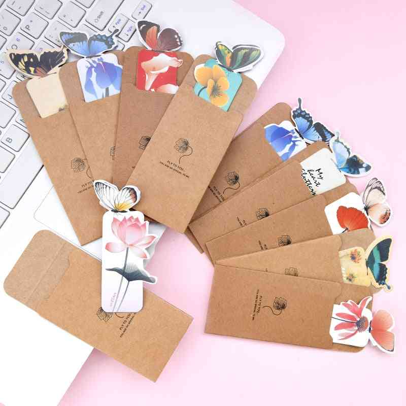 Animal Butterfly Bookmark, Paper Book Mark School Stationery