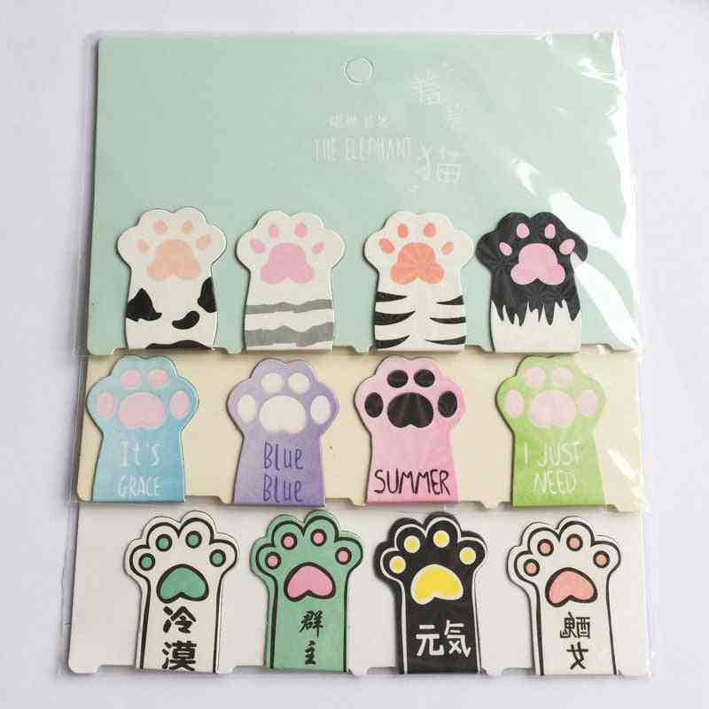 Cat Paw Magnetic Bookmarks