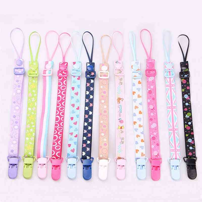 Baby Pacifier Clip Chain- Adjustable Holder