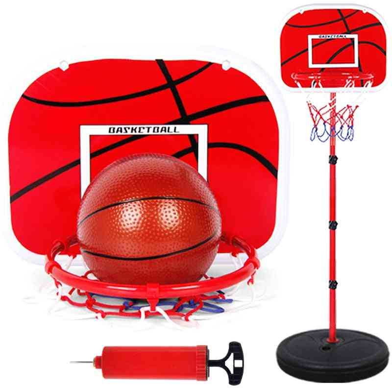 Basketball With Adjustable Stand And Pump-toy Set