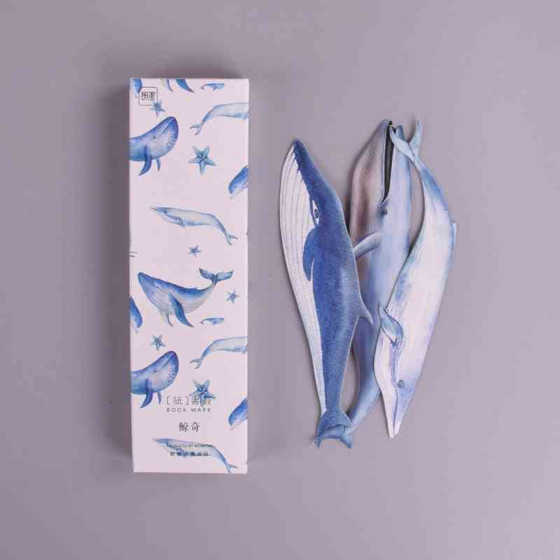 Whale Fish Pattern Paper Bookmark