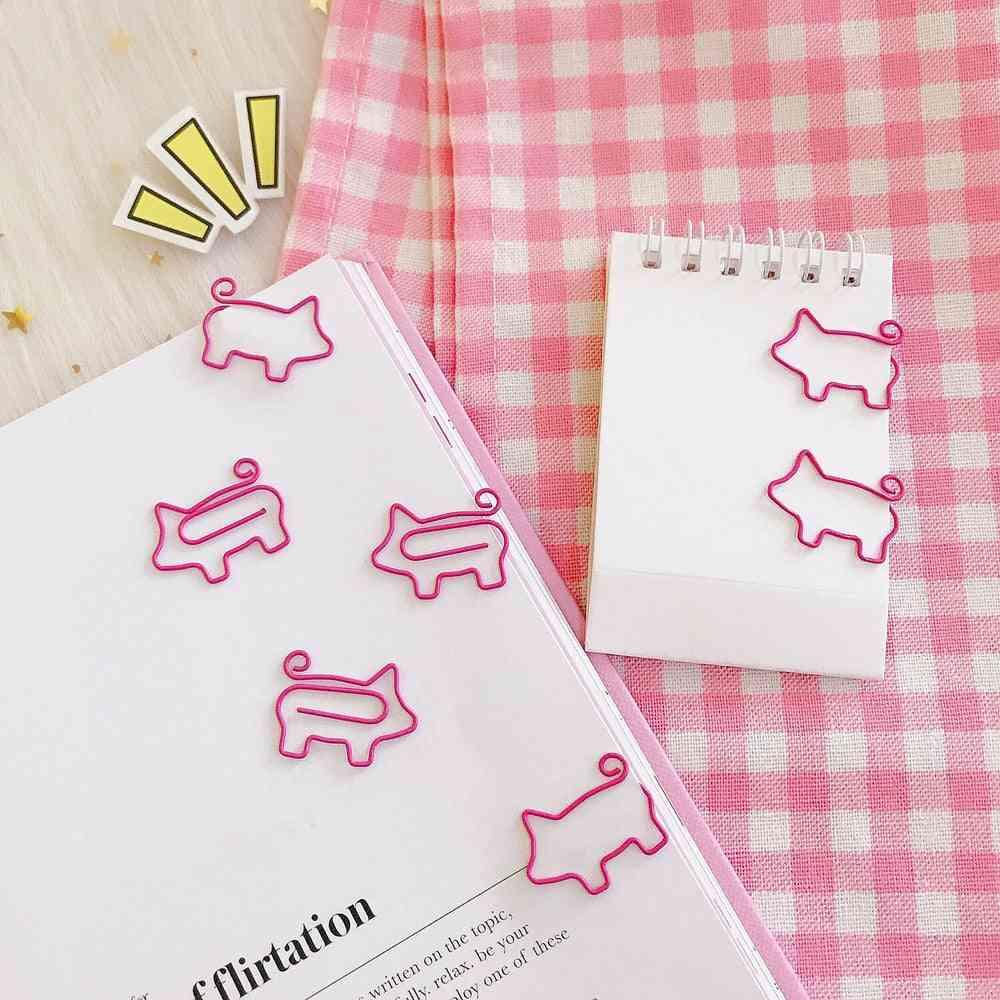 Pig/flamingo Shaped Bookmark/paper Clip