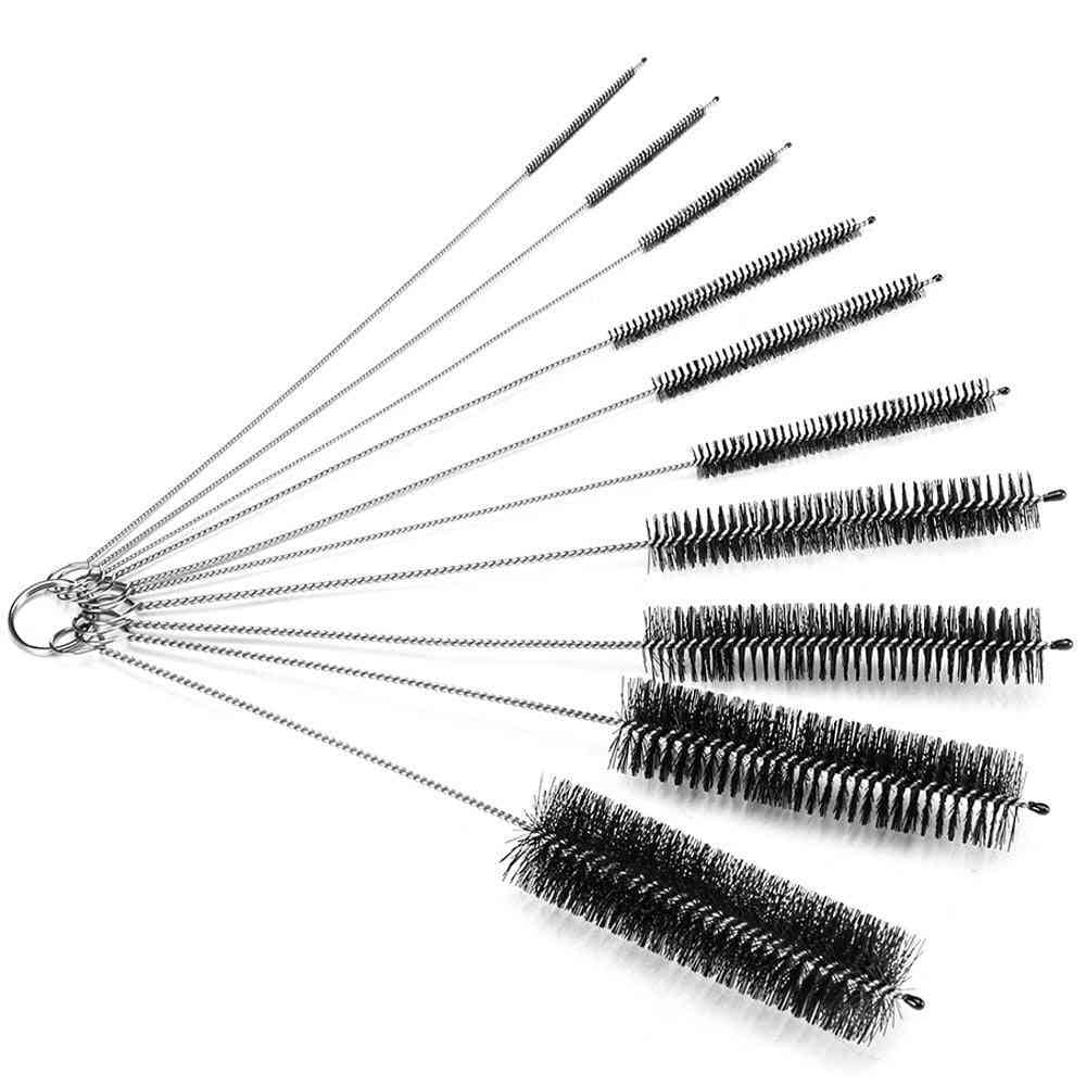 Bottle Cleaning Brushes For Narrow Neck Bottles Cups With Hook Set