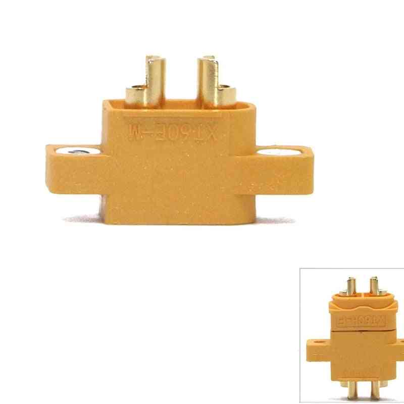 Mountable Male Plug Connector For Racing Models, Multicopter Fixed Board Diy Spare Part