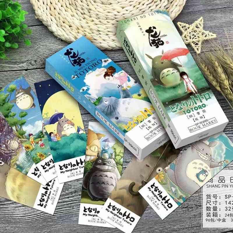Cartoon Totoro Bookmark Set