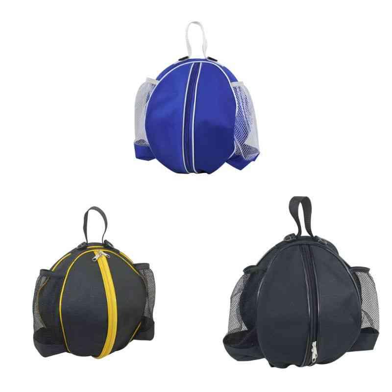 Sport Bag Basketball, Football & Volleyball Backpack, Handbag Round Shape Adjustable Shoulder