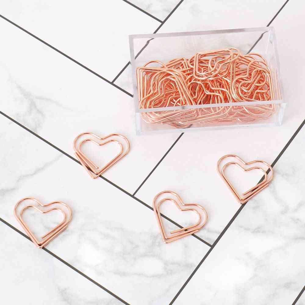 Heart Bookmark Metal Paper Clip, Book & Note Decoration