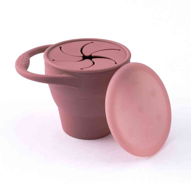 Portable Silicone Food Storage Cup With Lid