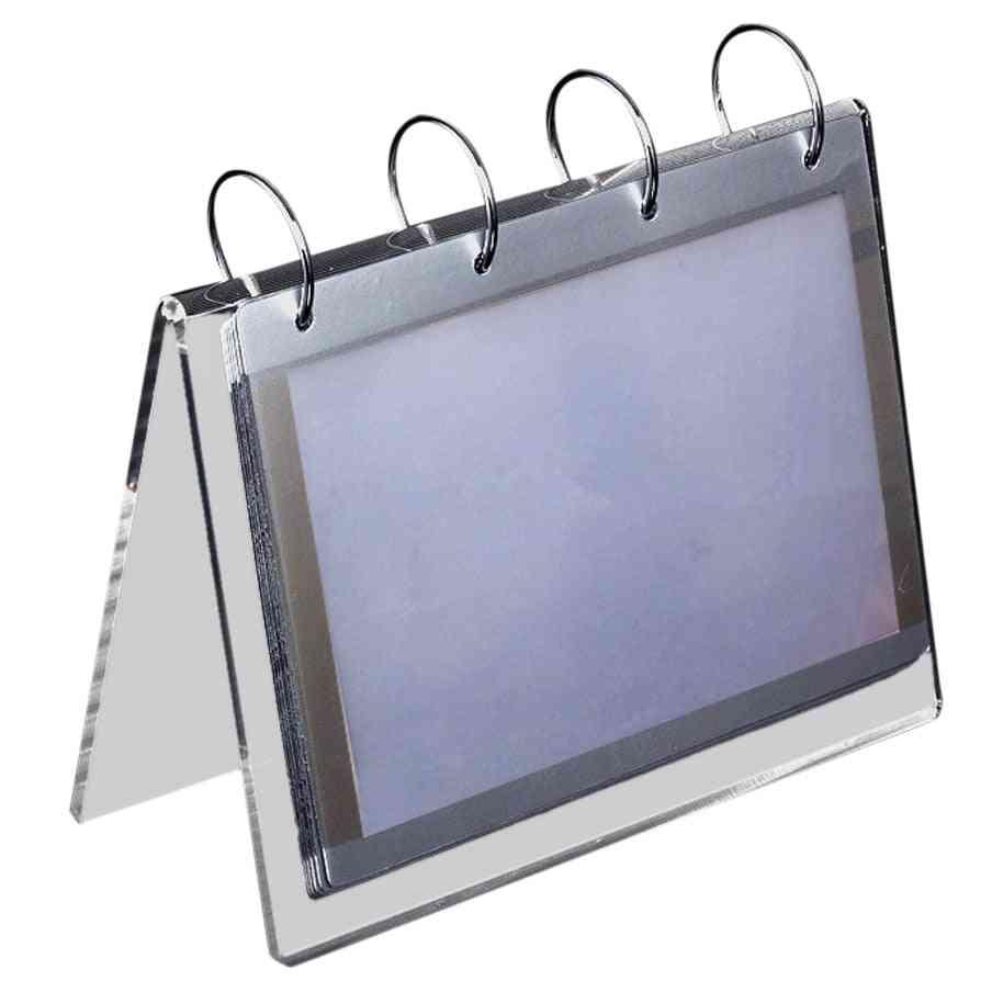 Diy Transparent Calendar Frame Stand