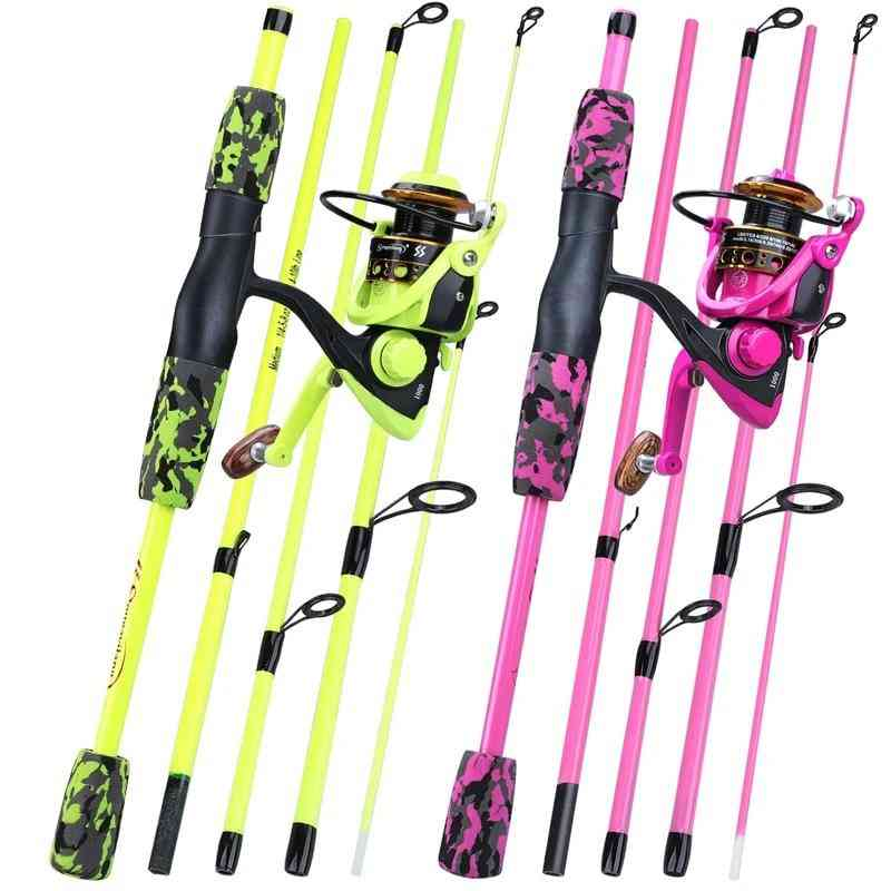 Portable Fishing Rod And Spinning Reel Set