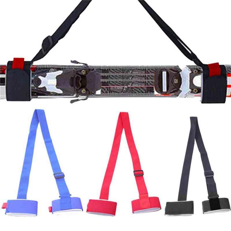Ski Pole Shoulder Carrying Eyelashes Hand Straps, Hook-loop Protection Grip Belt Bag