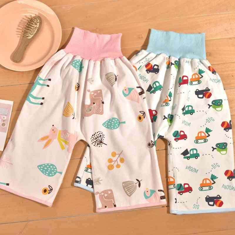 Prevent Baby Bed Wetting Pure Cotton Skirt For Preventing Leakage Of Urine Learning Pants Washable