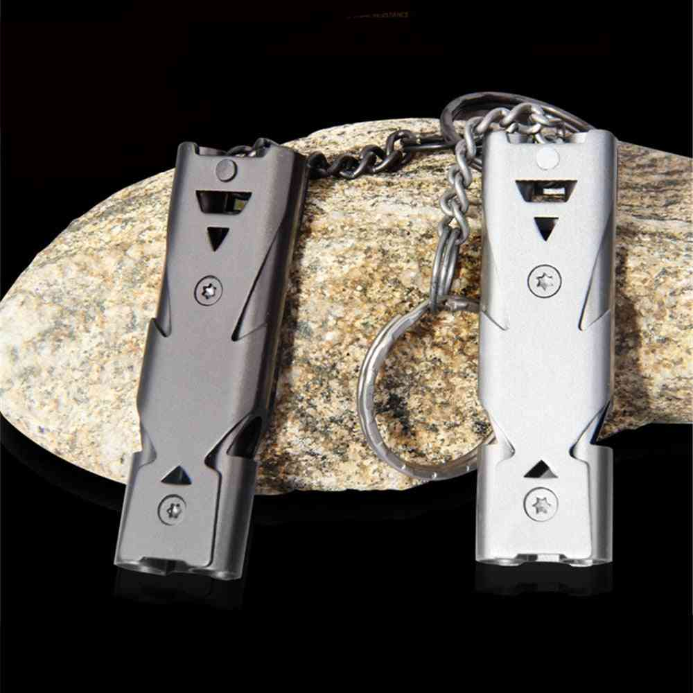 Outdoor Edc Survival Whistle With Double Pipe